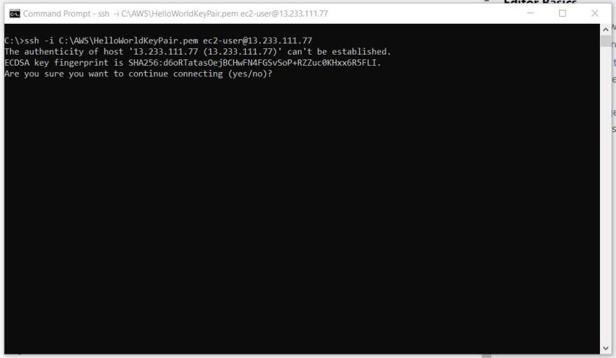 SSH Into EC2 Part 1