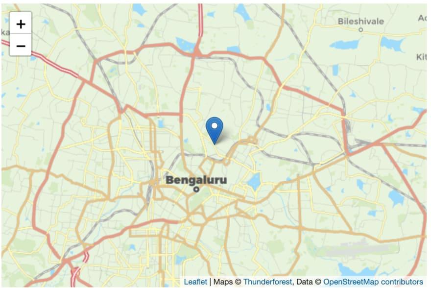 leafletjs map with thunderforest