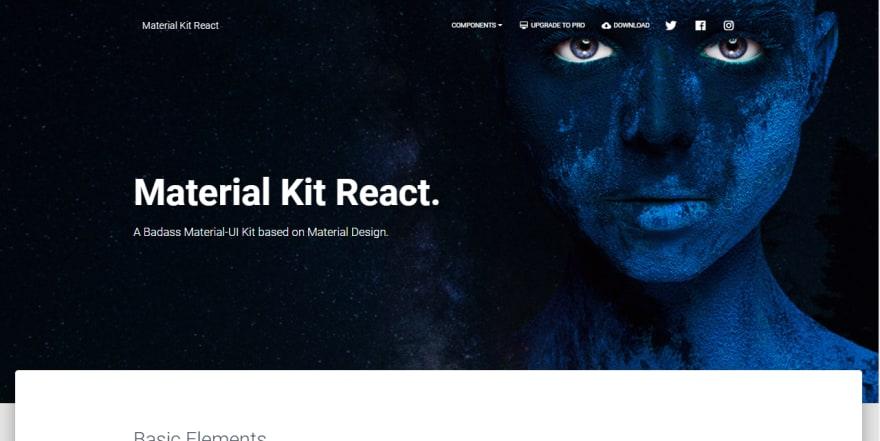 React Template - Material Kit React.