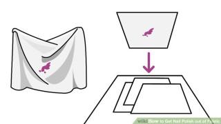 Tẩy vết sơn móng tay khỏi vải