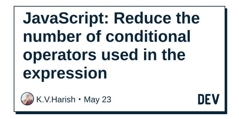 JavaScript: Reduce the number of conditional operators used