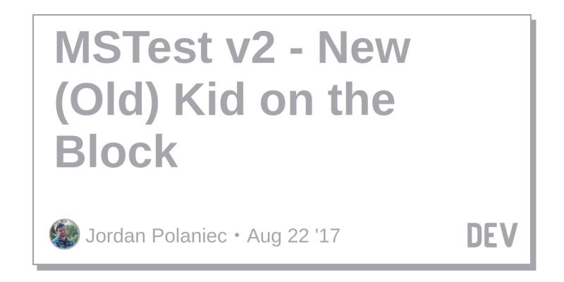 Mstest Vs 2017