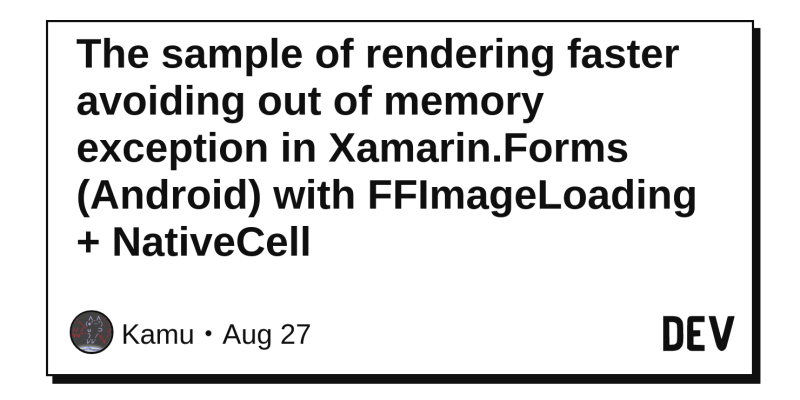 The sample of rendering faster avoiding out of memory