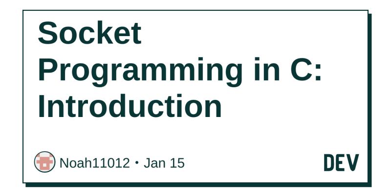Socket Programming in C: Introduction - DEV Community 👩 💻👨 💻