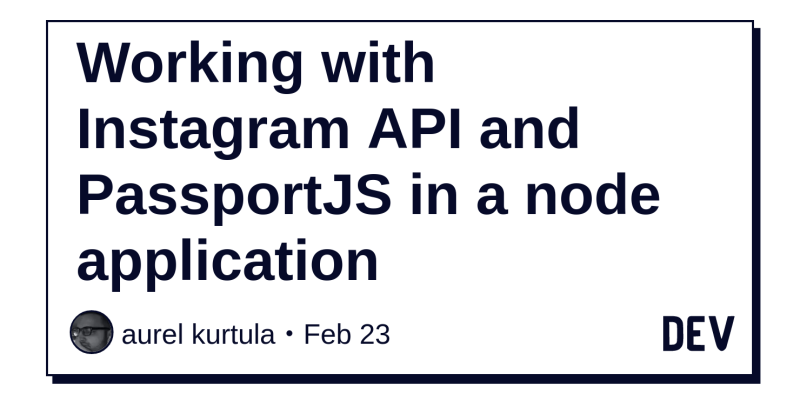 Working with Instagram API and PassportJS in a node
