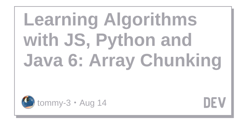 Learning Algorithms with JS, Python and Java 6: Array