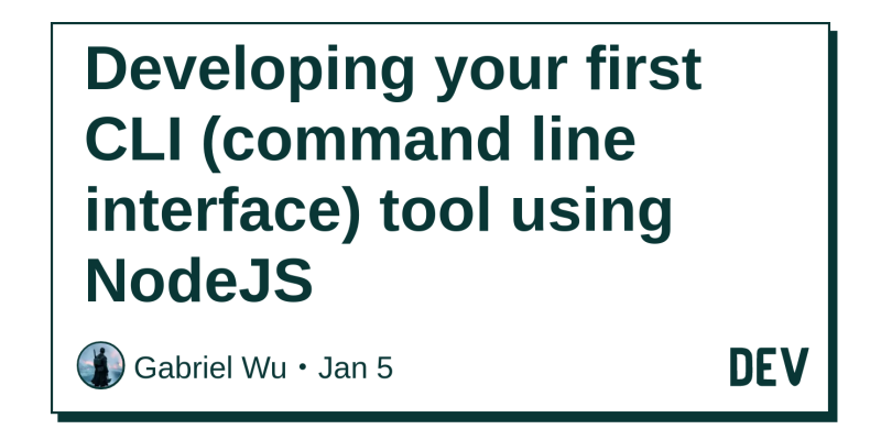 Developing your first CLI (command line interface) tool using NodeJS