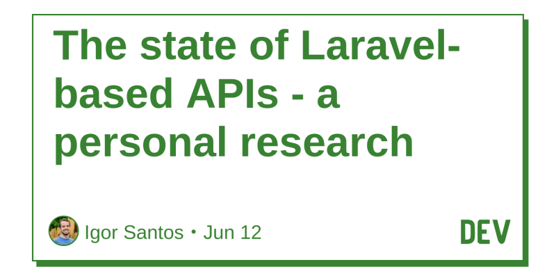 The state of laravel based apis a personal research dev the state of laravel based apis a personal research dev community malvernweather Image collections