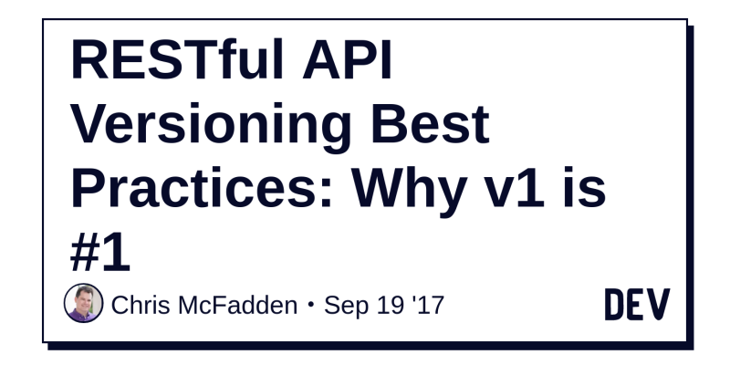 I wish I could agree, but I don't  With API versioning, you're only