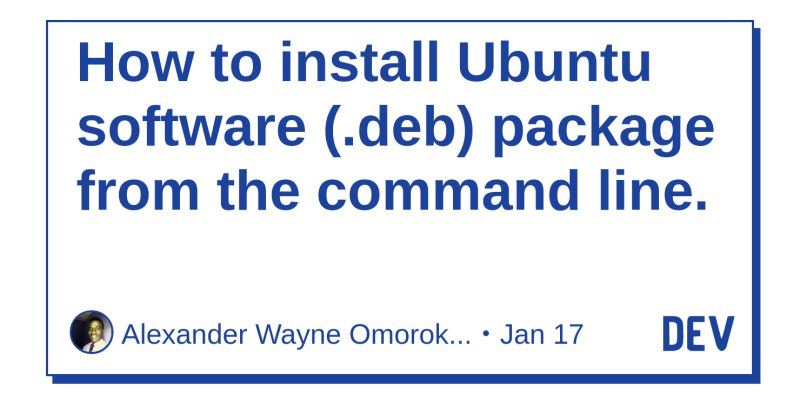 How to install Ubuntu software ( deb) package from the