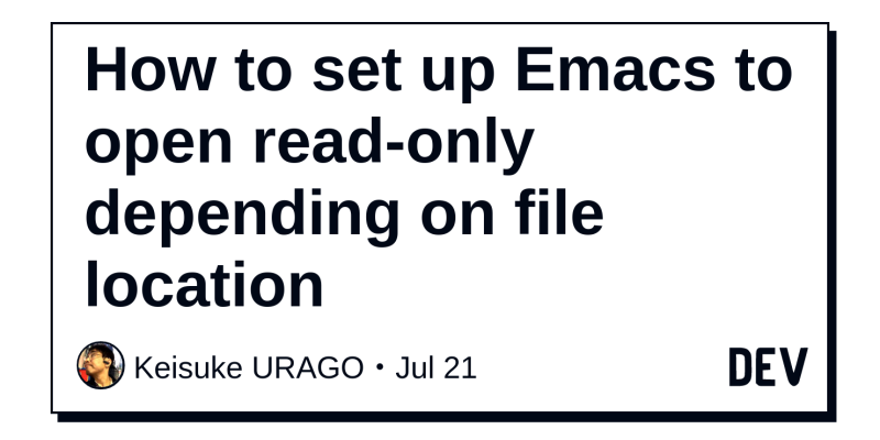 How to set up Emacs to open read-only depending on file