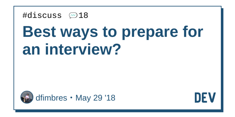 article on how to prepare for interviews