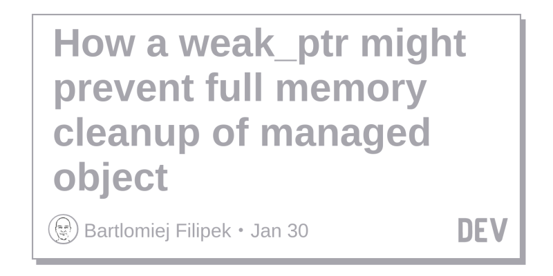 How a weak_ptr might prevent full memory cleanup of managed object