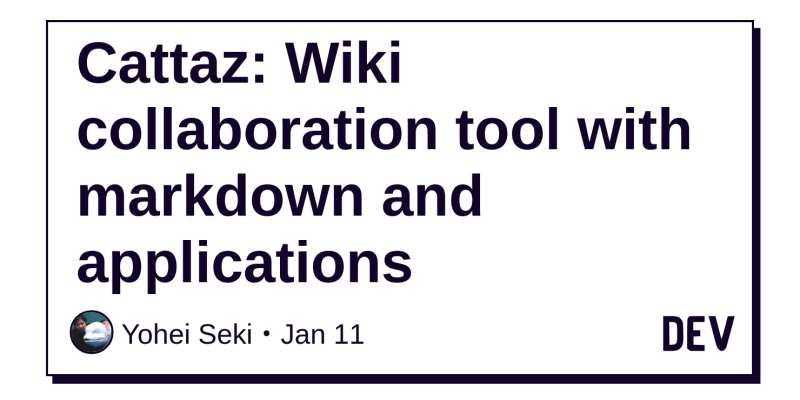 Cattaz: Wiki collaboration tool with markdown and