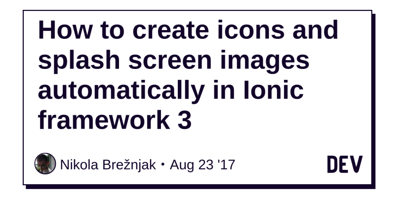 How to create icons and splash screen images automatically