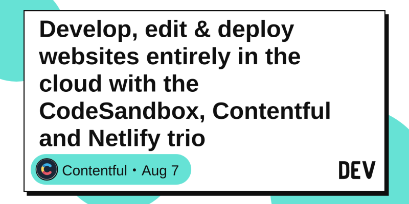 Develop, edit & deploy websites entirely in the cloud with the