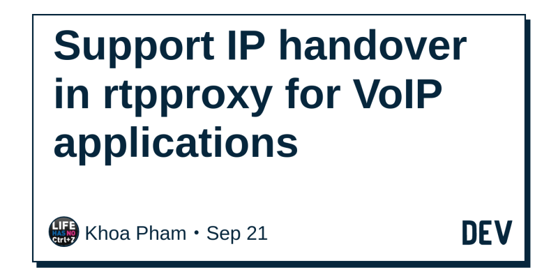 Support IP handover in rtpproxy for VoIP applications - DEV