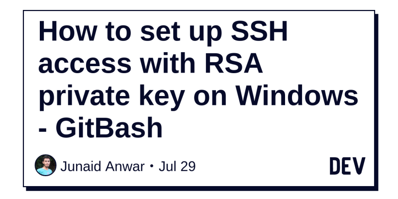 How to set up SSH access with RSA private key on Windows - GitBash