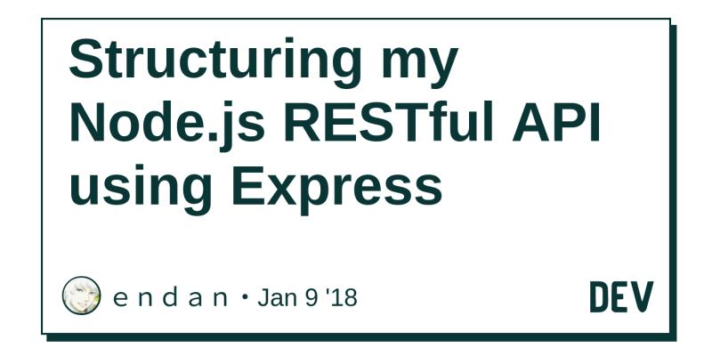 Structuring my Node js RESTful API using Express - DEV Community