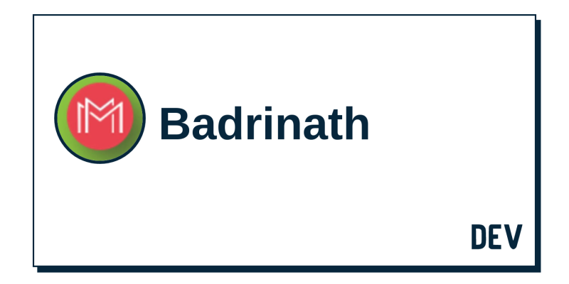 Badrinath - DEV Community 👩 💻👨 💻