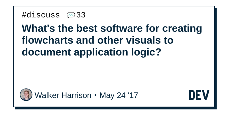 Discussion Of Whats The Best Software For Creating Flowcharts And