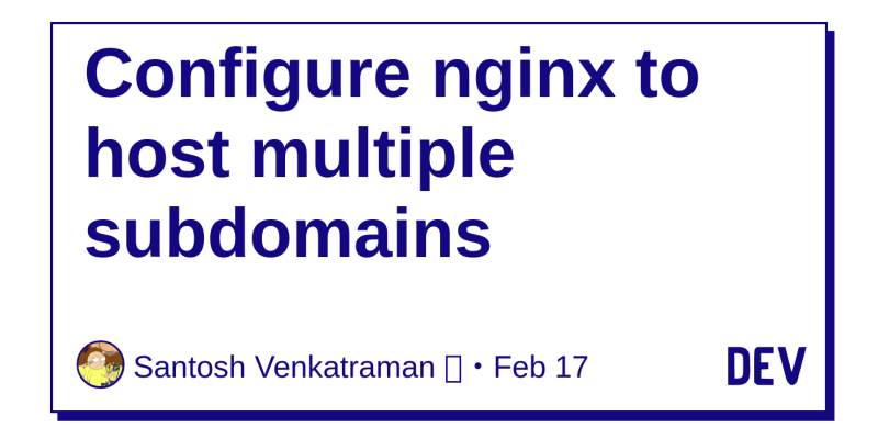 Configure nginx to host multiple subdomains - DEV Community 👩 💻👨 💻