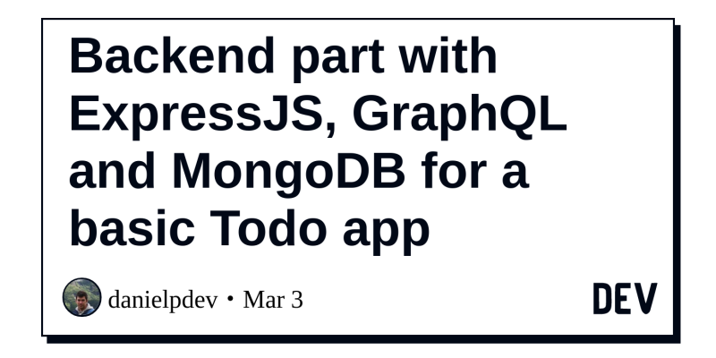 Backend part with ExpressJS, GraphQL and MongoDB for a basic
