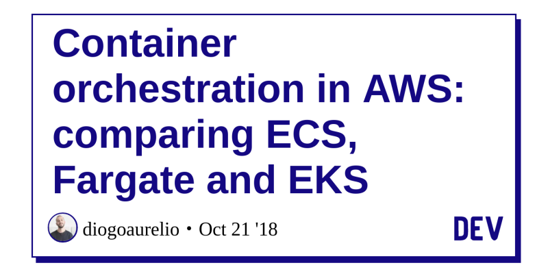 Container orchestration in AWS: comparing ECS, Fargate and EKS - DEV