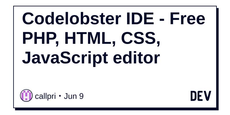 Codelobster IDE - Free PHP, HTML, CSS, JavaScript editor - DEV