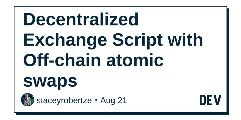 Decentralized Exchange Script with Off-chain atomic swaps