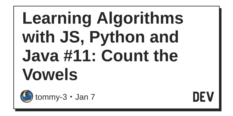 Learning Algorithms with JS, Python and Java #11: Count the