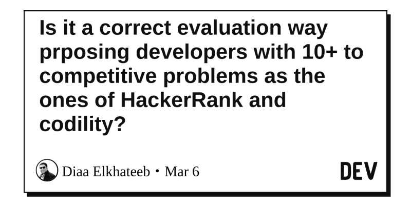 Is it a correct evaluation way prposing developers with 10+