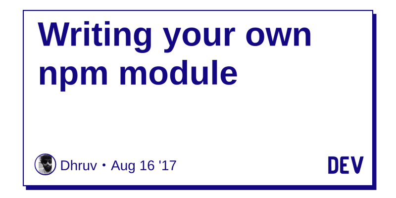 Writing your own npm module