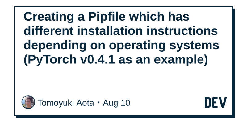Creating a Pipfile which has different installation