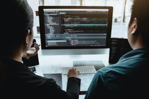 Professional development programmer cooperating meeting programming website