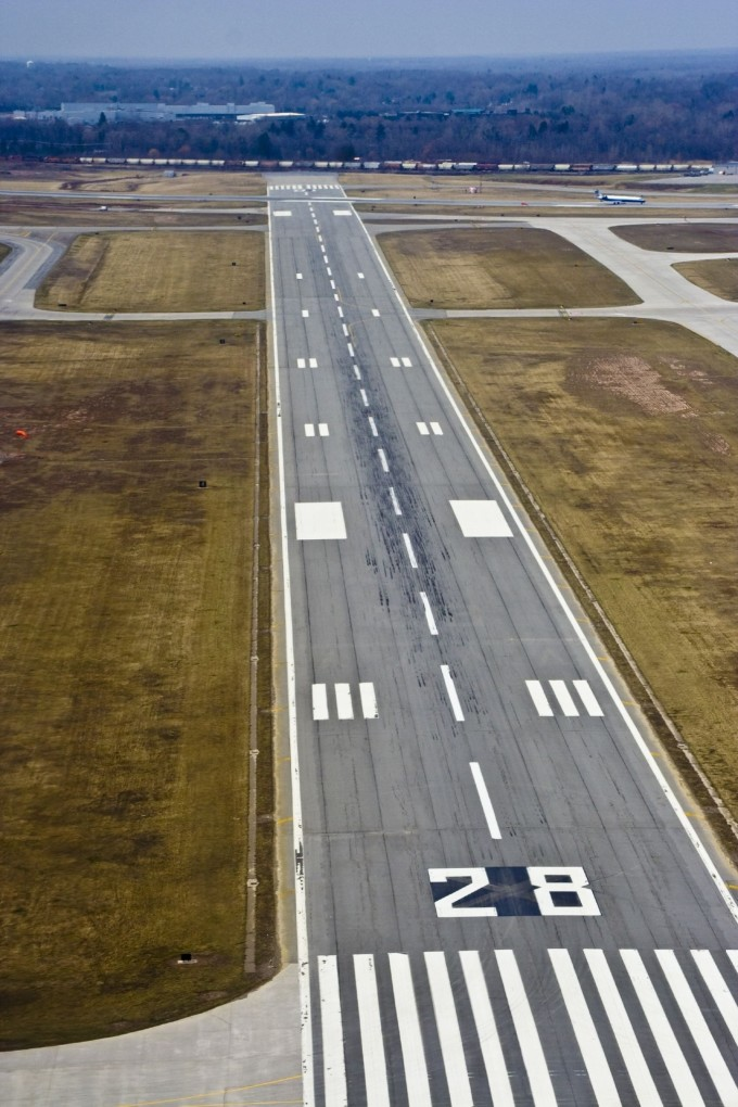numbered aiport runway