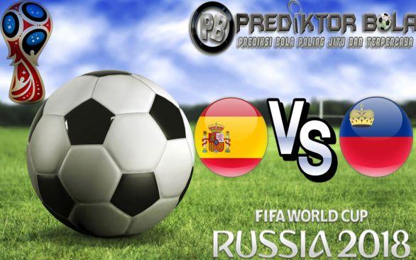 Prediksi Spanyol vs Liechtenstein 06 September 2016