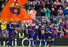 Barcelona kunci gelar-juara la liga berkat kemenangan melawan deportivo 2-4