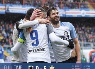 Tampil Ganas, Icardi Cetak Quattrick Internazionale 5-0 Sampdoria