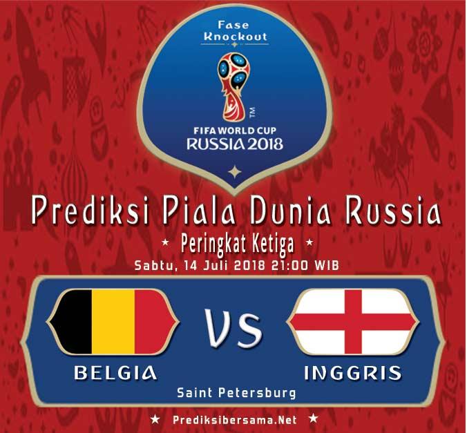 Belgia vs Inggris, Perebutan Tempat Ketiga Piala Dunia 2018