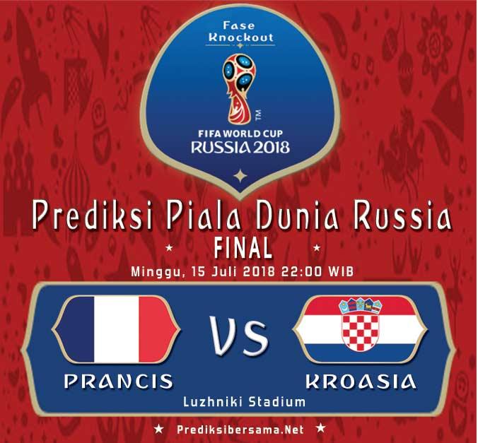 Prancis vs Kroasia FINAL PIALA DUNIA 2018