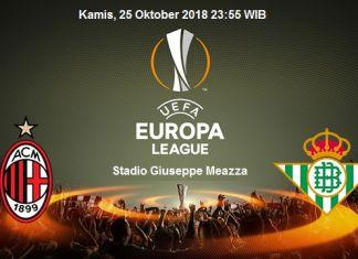 Prediksi Milan vs Real Betis 25 Oktober 2018