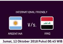 Prediksi Argentina vs Irak, 12 Oktober 2018