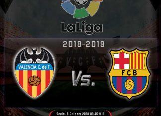 Prediksi Skor & Info Live Streaming Valencia vs Barcelona 8 Oktober 2018