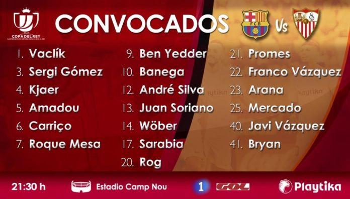 Sevilla Skuad