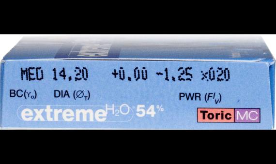 Extreme H2O 54 Percent Toric MC
