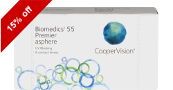 Biomedics 55 Premier 6 lenses per box