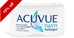 Acuvue Oasys Transitions 6 lenses per box