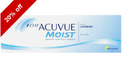 1-Day Acuvue Moist 30 lenses per box