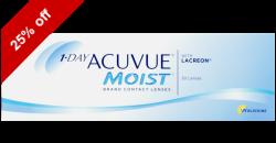 1-Day Acuvue Moist 30 lenses per box
